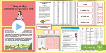 Y1 Story Writing: Adventure Example Text - Example Texts Y1, genre, WAGOLL, exemplar, fiction, text, text features, SPaG, GPS, example, exempli