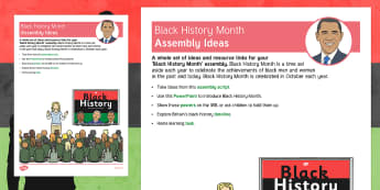 Black History Month Assembly Ideas