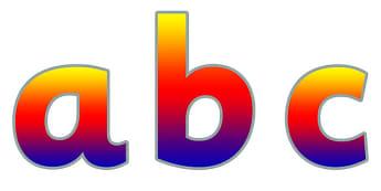 Display Lettering & Symbols (Rainbow) - Display lettering, display letters, alphabet display, letters to cut out, letters for displays, coloured letters, coloured display, coloured alphabet