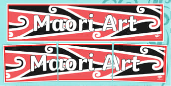Maori Art Display Banner - Maori Art Display Banner, Maori, Marori Art, Art, display, banner, sign, poster, drawing, Japan, Japanese