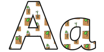 Reproduction Plants Lowercase Display Lettering - reproduction plants, reproduction plants display lettering, reproduction plants display letters, plants