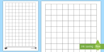 2cm Squared Editable Paper Activity Sheet - paper, square, squared, grid, dT, maths, worksheet,