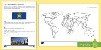 The Commonwealth Countries Activity Sheet - queen, commonwealth, worksheet
