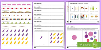 Workstation: 'Lots' and 'One' Activity Pack  - TEACCH, lots v one, P scale maths, P scale number, workstation