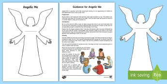 KS2 Angelic Me Activity Sheet - angel, positivity, compliments, kindness, value