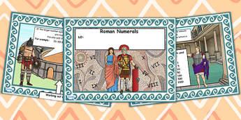 Roman Numerals Introduction for IWB - romans, numerals, IWB