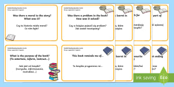 Guided Reading Question Cards English/Polish - help, aid, read, flashcard, reding, EAL,translation