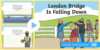 London Bridge Is Falling Down  - London Bridge, Nursery Rhyme, Song, Lyrics