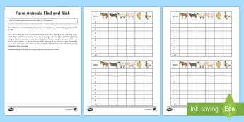 Farm Animals Find and Sink Board Game - Spanish, Vocabulary, KS2, pets, animals, farm, board, game, animals