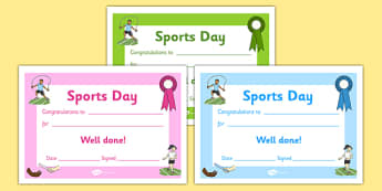 Editable Award Certificates - Editable sports day award certificates, reward, sports day, award, certificate, medal, rewards, school reward, medal, good running, good try, sports