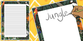 Jungle Decorative Page Border - jungle, page border, decorative