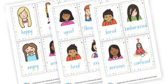 Emotion Word Cards - My Emotions Labels Primary Resources, education, home school