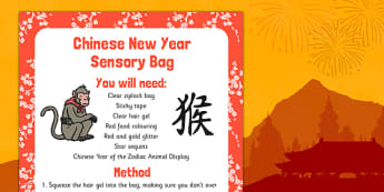 Chinese New Year Sensory Bag - chinese new year, sensory bag, sensory, bag, new year