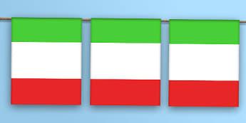 Italy Flag Bunting - jamaica flag, jamaica, flag, bunting, display bunting, display