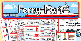 Ferry Port Role Play Pack-ferry port, role play, ferry port pack, role play pack, ferry port role play, role play activity, role play material