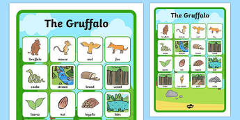 The Gruffalo Vocabulary Matching Mat -  the gruffalo, vocabulary, vocabulary poster, pirates poster, display poster, poster for display, classroom display