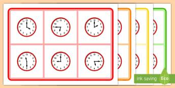Cluiche Biongó: Amanna Éagsúla - Mixed Time Bingo, cluiche biongó: amanna éagsúla, Mixed time bingo, time game, cluiche ama, Time