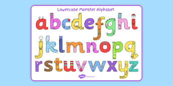 Lower-Case Monster Alphabet Image Mat - letters, formation