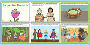 Le petit Poucette Thumbelina Story French - french, stories, story books, tradition tales, reading