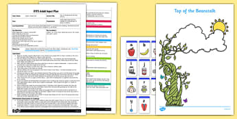 Top of the Beanstalk Writing Activity EYFS Adult Input Plan and Resource Pack - EYFS, Early Years planning, adult led, Literacy, plants and growth, Jack and the Beanstalk, Mick Inkpen, Nick Butterworth, Jasper's Beanstalk