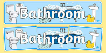 Bathroom Home Role Play Display Banner - bathroom, home, role play, display banner
