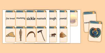 Ancient Egypt Matching Flashcards - flashcards, matching, egypt
