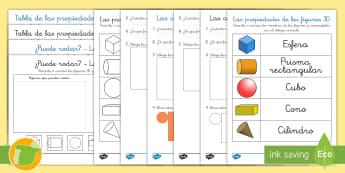 Fichas de actividad: Las propiedades de las figuras 3D - figuras 3D, 3D, cuerpos geométricos, figuras geométricas, fichas, mates, matemáticas, prisma, rec