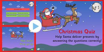 Editable Christmas Quiz PowerPoint - christmas, christmas quiz, powerpoint, christmas powerpoint, quiz powerpoint, christmas games, christmas activities