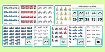 Workstation Pack  Number Matching (21-  30) Activity Pack