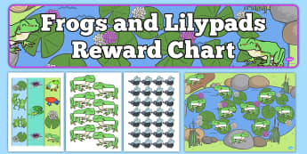 Frogs and Lilypads Reward Display Pack - frogs, lilypads, reward, display