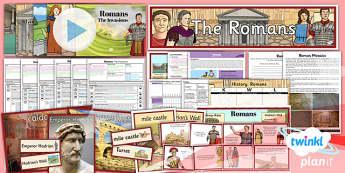 PlanIt - History LKS2 - Romans Unit Pack Flipchart