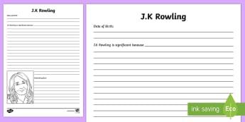 J.K. Rowling Significant Individual Writing Frames - C S Lewis Significant Individual Writing Frame - writing frame, writting