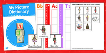 The Nutcracker Picture Dictionary Word Cards - nutcracker, picture dictionary, word cards