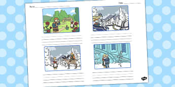 The Snow Queen Storyboard Template - storyboard, snow queen