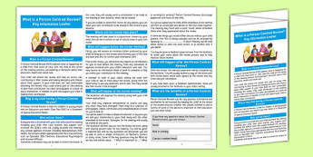 Person Centred Review Key Information Leaflet Editable - person centred review, annual, meeting, parents, key, information, leaflet, editable, edit