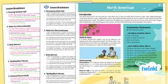 PlanIt - Art UKS2 - North American Art Planning Overview CfE - planit, art, planning, overview, cfe