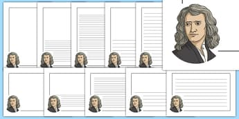 Isaac Newton Themed Page Borders - isaac newton, themed, page borders