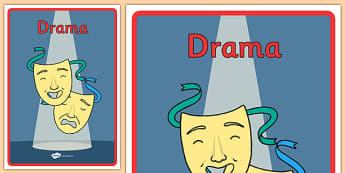 Australian Curriculum Drama Book Cover - book cover, front page, title page, subject. Australian Curriculum, labels, drama, acting, act, roleplay, theatre