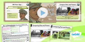 PlanIt - History KS1 - War and Remembrance Lesson 1: The Life of Walter Tull Lesson Pack