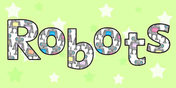 Robot Display Lettering - robot, display, lettering, letters