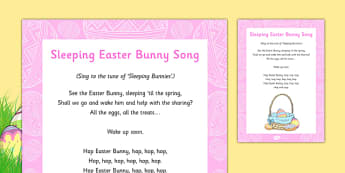 Sleeping Easter Bunny Song - Rabbit, sleeping eater bunny, song, rhyme, sleeping, easter bunny