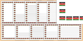 Kenya Kenyan Flag Page Borders - kenya, kenyan, flag, page borders, page, borders