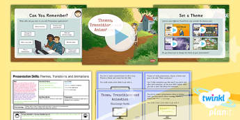 PlanIt - Computing Year 3 - Presentation Skills Lesson 3: Themes Transit - planit, computing, year 3, presentation skills, unit, lesson 3