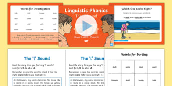 Northern Ireland Linguistic Phonics Stage 5 and 6 Phase 3b, 'l' Sound PowerPoint  - NI, sound search, word sort, investigation