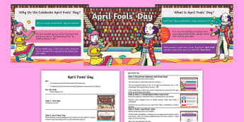 April Fools' Day Whole School Assembly Pack - April Fools' Day, April, Fool, Joke, Prank, Hoax, Laugh, Trick, Midday, Assembly, KS1, KS2, Key Sta