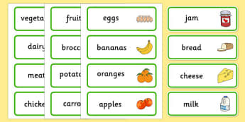 Farm Shop Role Play Labels - Farm Shop Role Play, labels, word cards, Word Card, flashcard, flashcards, farm shop resources, farm, milk, cheese, eggs, till, animals, meat, cheese, living things, butcher, role play, display, poster