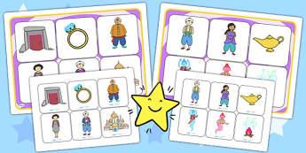 Aladdin Matching Mat SEN - aladdin, matching, SEN, matching games