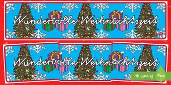Wundervolle Weihnachtszeit German Christmas Display Banner - Christmas, Weihnachten, German,German