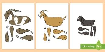 Three Billy Goats Gruff Split Pin Activity - Split Pin Animals - split pin, pin, making a split pin, animals, animal, goats, goat, moving, puppet