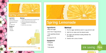 Spring Non-Alcoholic Drink Recipe - Spring, Easter, Care Homes, Elderly Care, Ideas, Support, Activity Co-ordinators, Season, Drink, Hyd